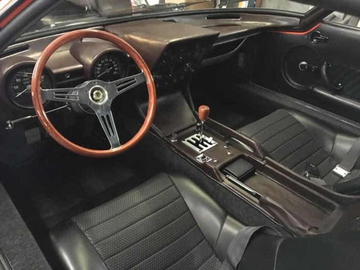 Lamborghini Miura vintage car interior restoration