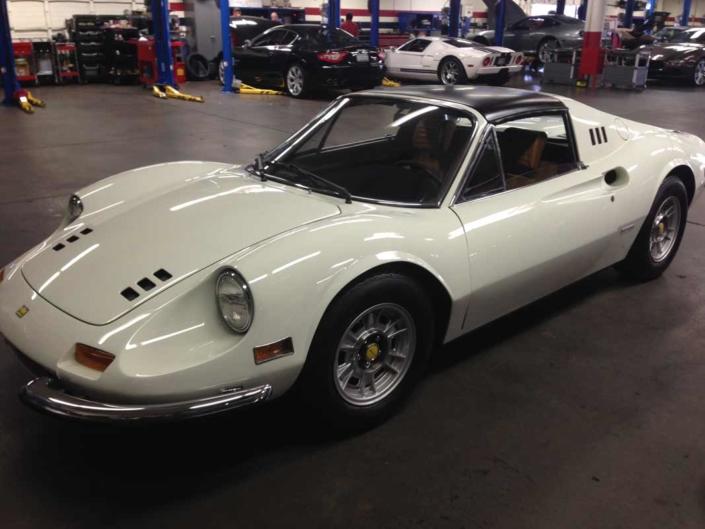 Ferrari 246 gts Ferrari 246 gts vintage car interior restoration