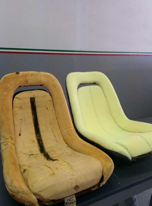 Ferrari 246 gts vintage car interior restoration